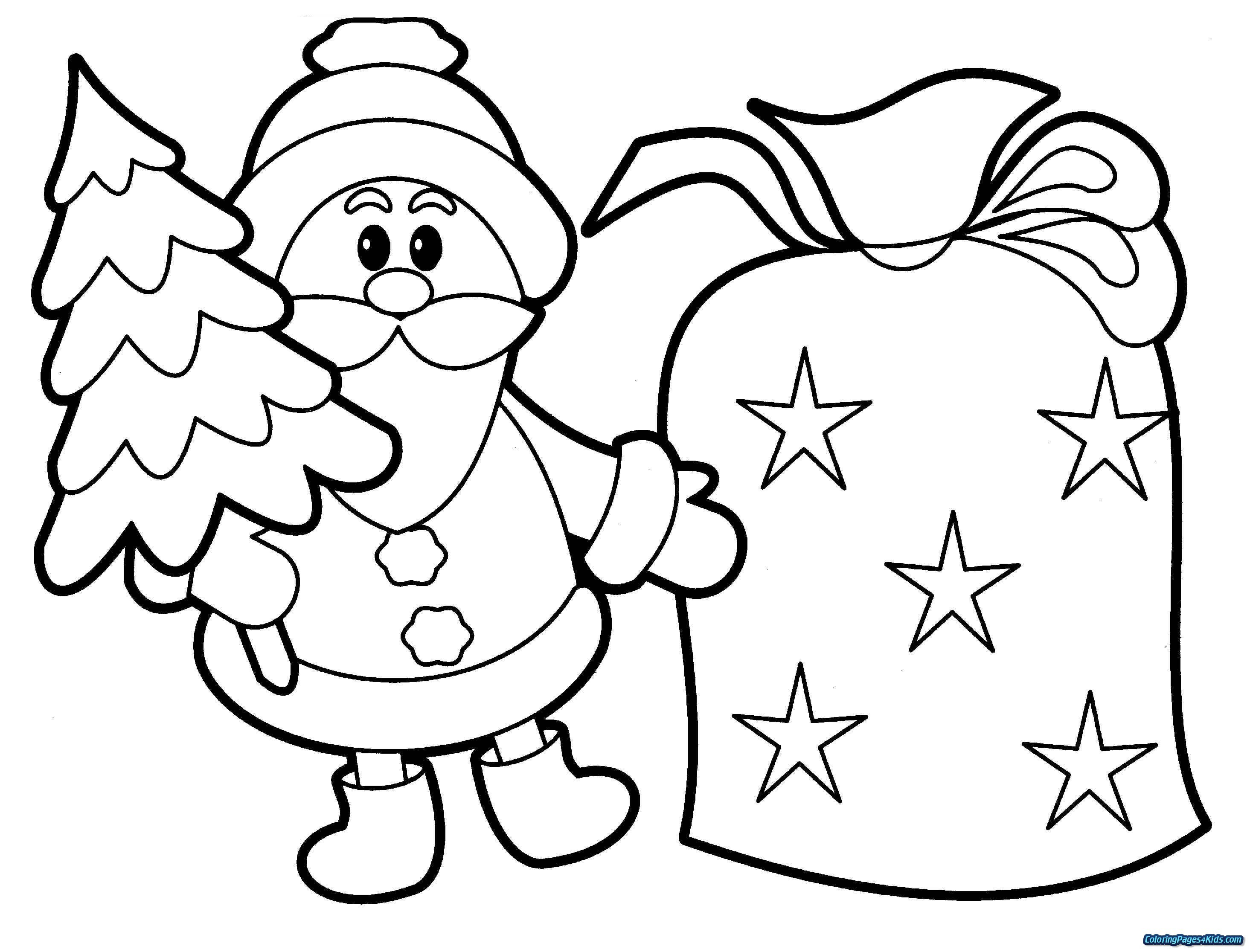 Santa Coloring Pages For Adults With Christmas New Printable