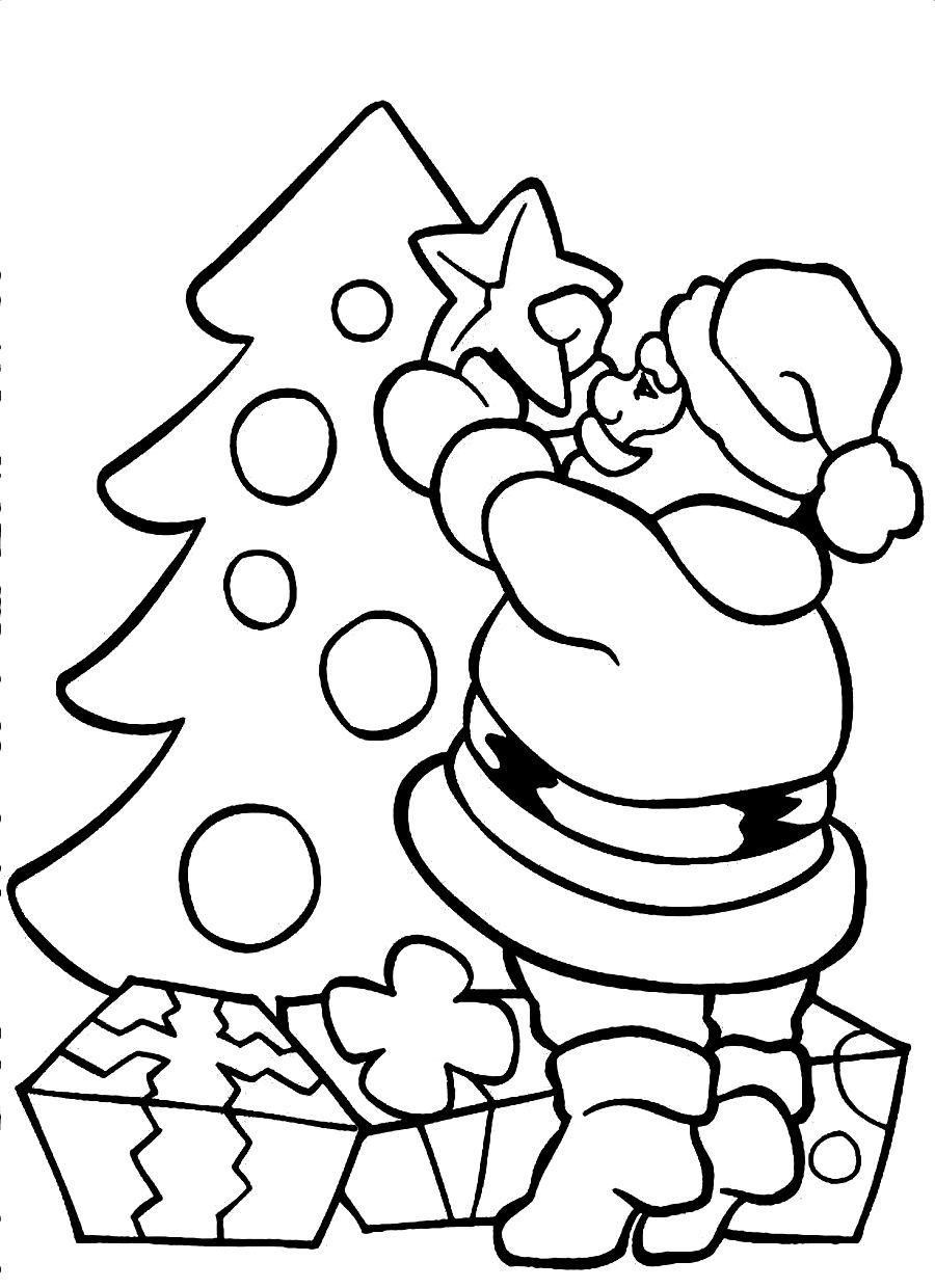 Santa Coloring Pages For Adults With Top Xmas Free Page