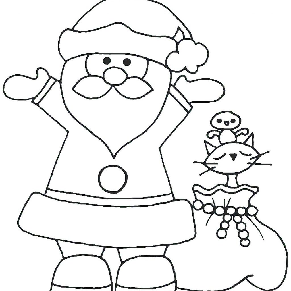 Santa Coloring Pages For Preschoolers With Claus Page