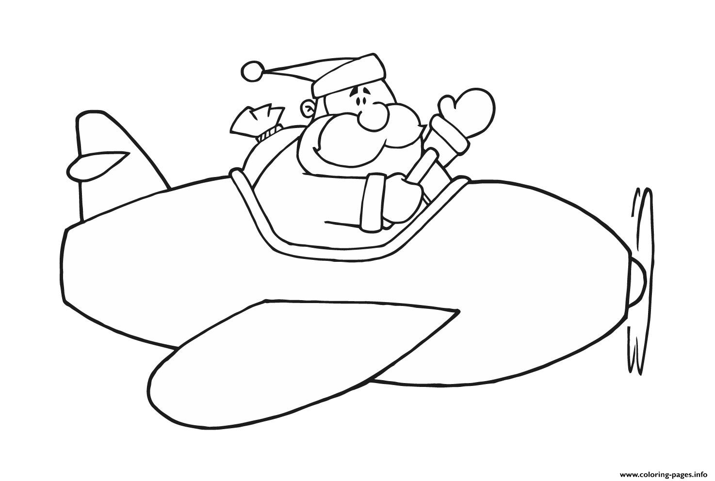 Santa Coloring Pages For Preschoolers With Preschool S Airplane And Santa46ec Printable