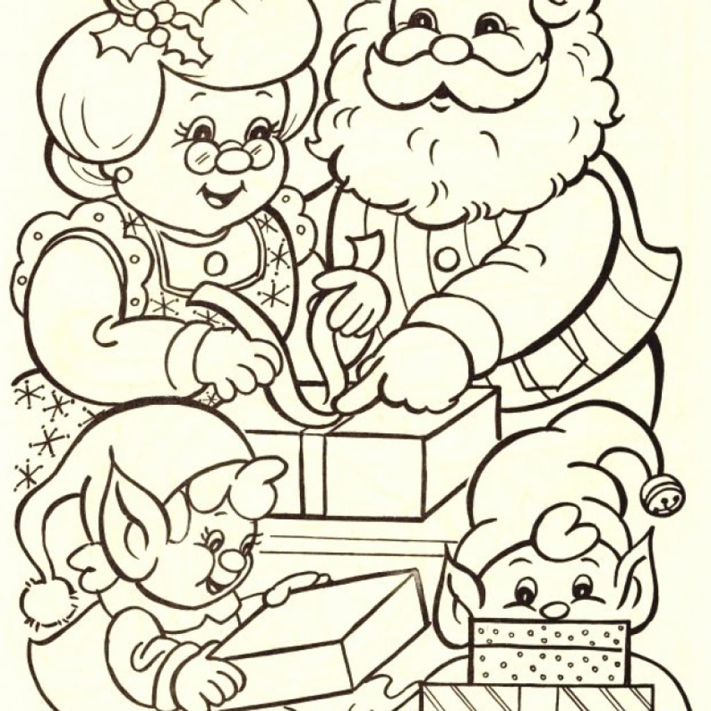 Santa Coloring Pages For Toddlers With Awesome Cartoon Claus Design Printable
