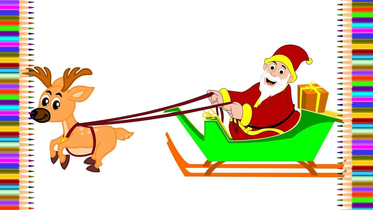 Santa Coloring Pages For Toddlers With Claus Christmas From