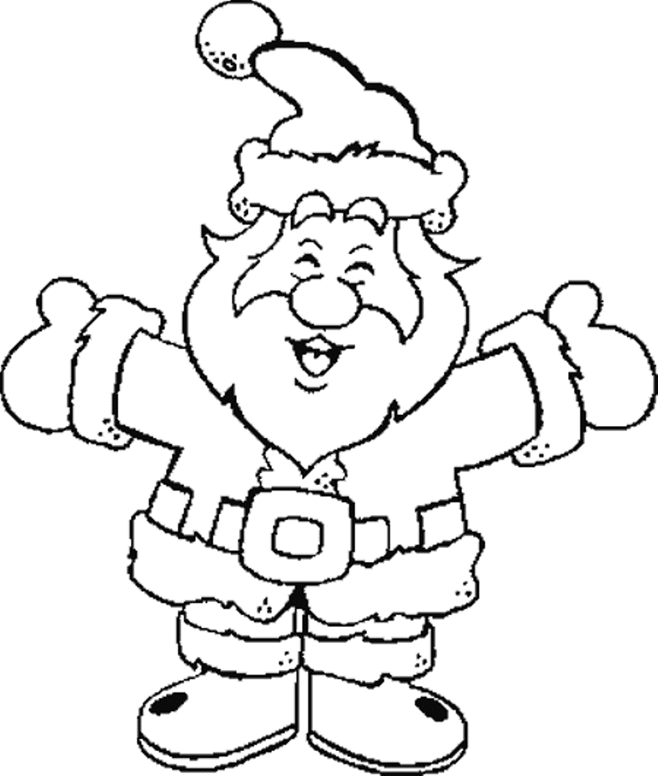 Santa Coloring Pages Free With Of Claus Face Beautiful