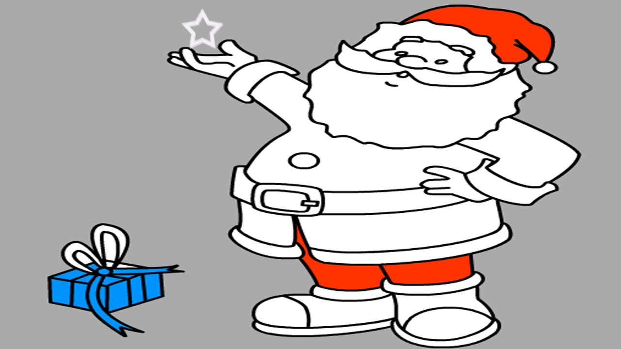 Santa Coloring Pages Online With Claus Page Game Free For Kids