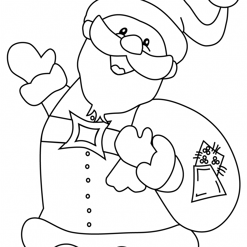 Santa Coloring Pages Online With Happy Claus Christmas Printable