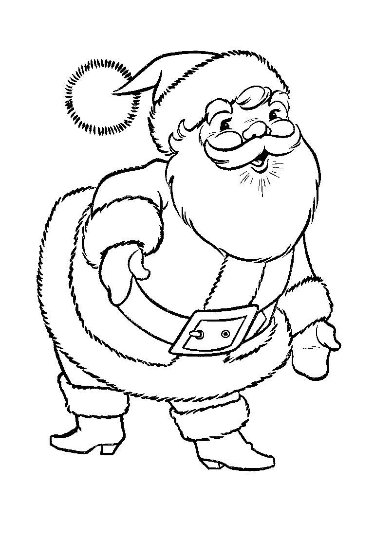Santa Coloring Pages Printable Free With Island Of News To Gow