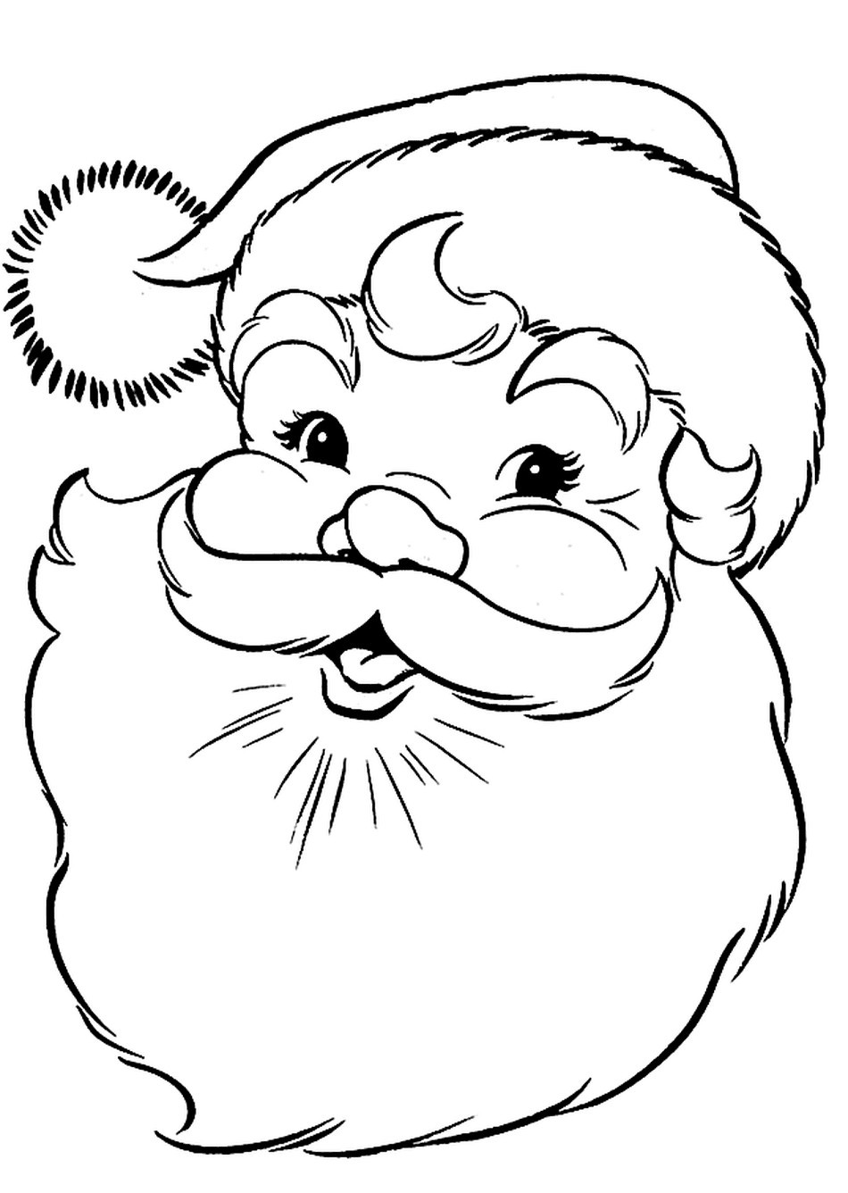 Santa Coloring Pages With Color Page Chronicles Network Free 950