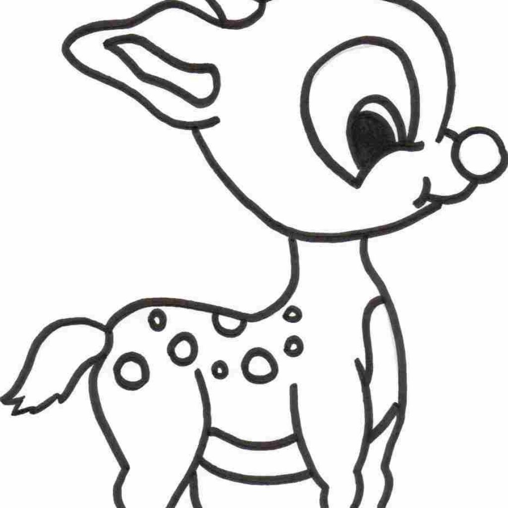Santa Coloring Pages With Reindeer Claus And His Fresh
