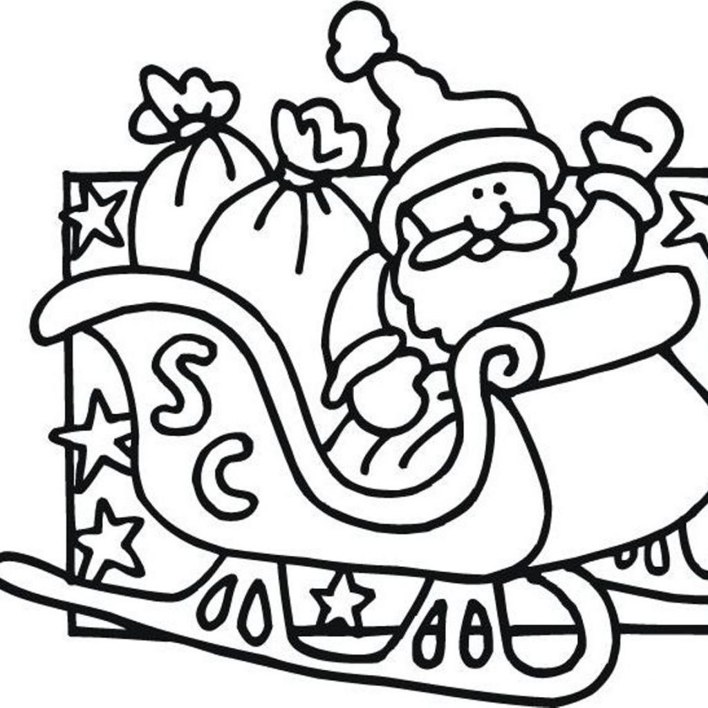 Santa Coloring Pages With Reindeer Free Download Best On