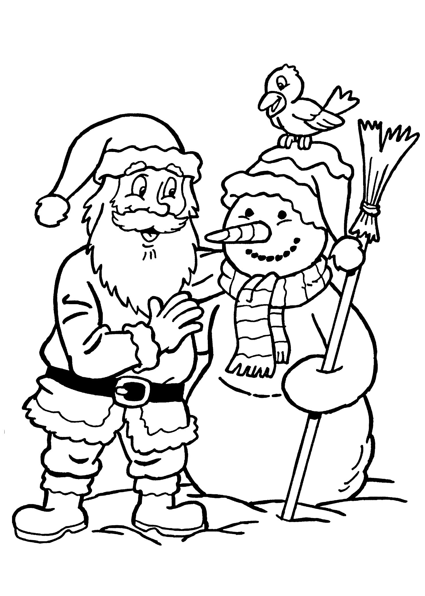 Santa Coloring Pages With Reindeer Games Claus New 2 Free