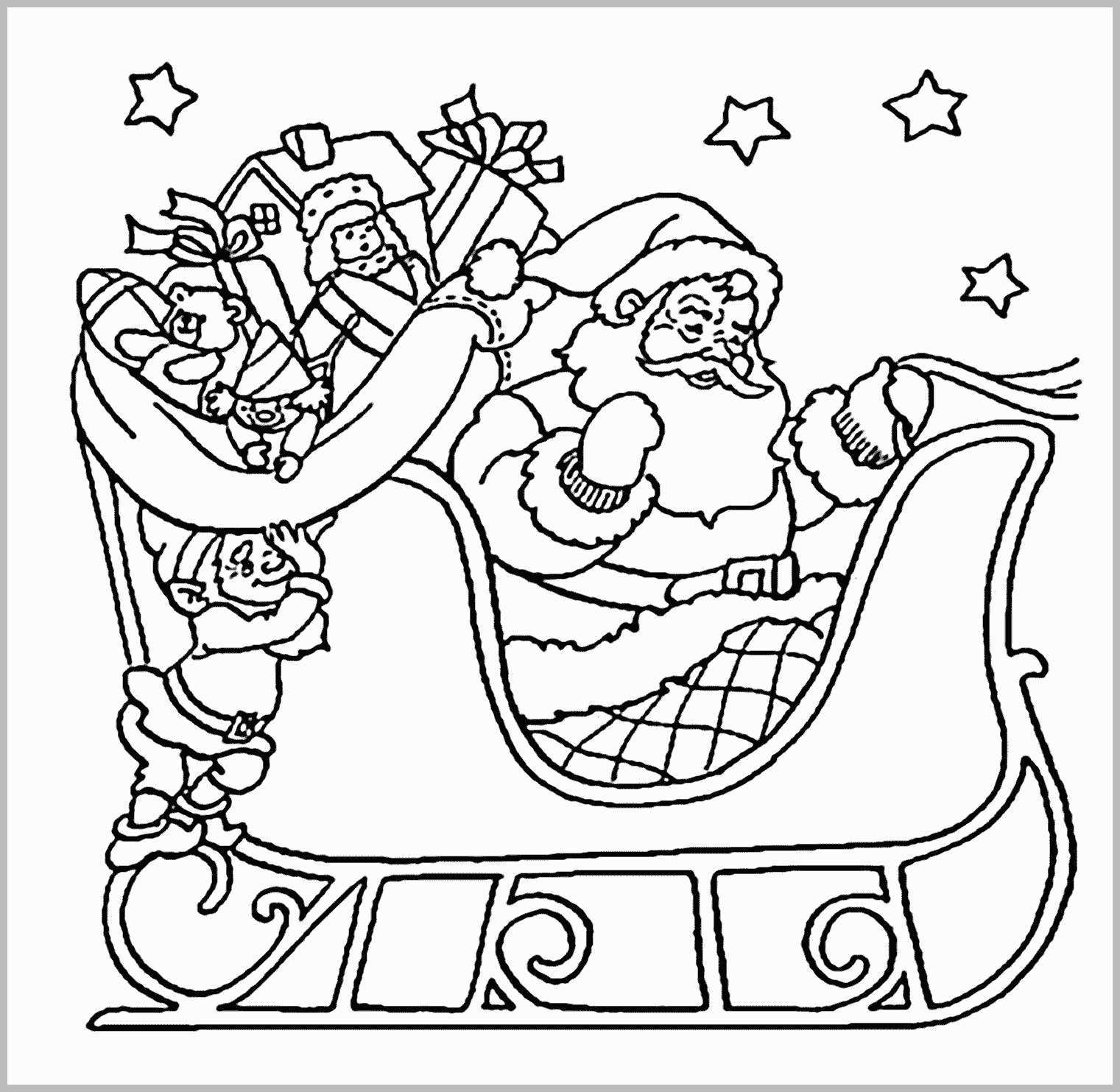 Santa Coloring Pages With Reindeer Modern Home Design Decorating Ideas