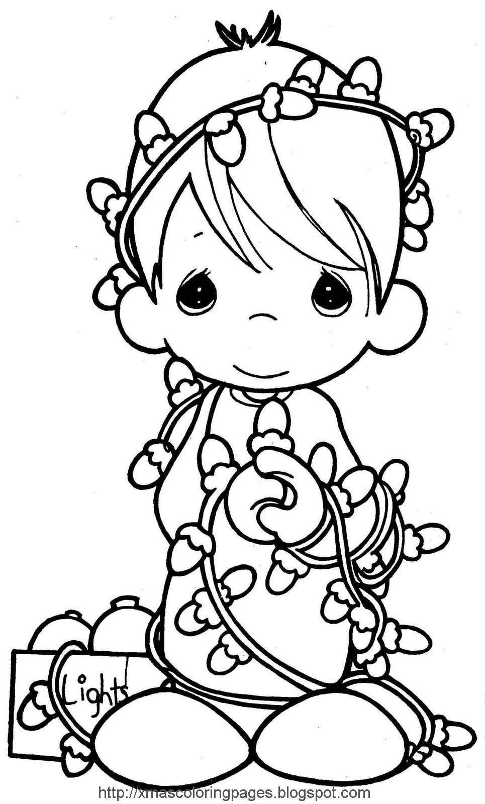Santa Coloring Pages With XMAS COLORING PAGES ANGEL PAGE Color Sheets Pinterest