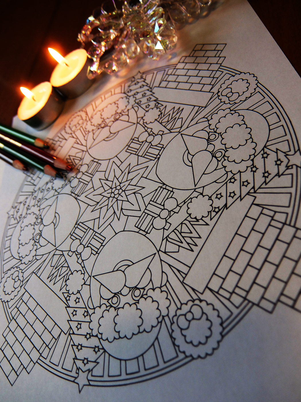 Santa Coloring Pdf With Christmas Eve Claus Page By Candy Hippie