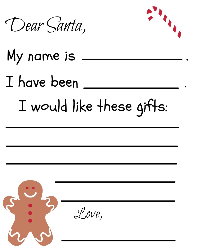 Santa Coloring Pdf With Free Printable Letter Template