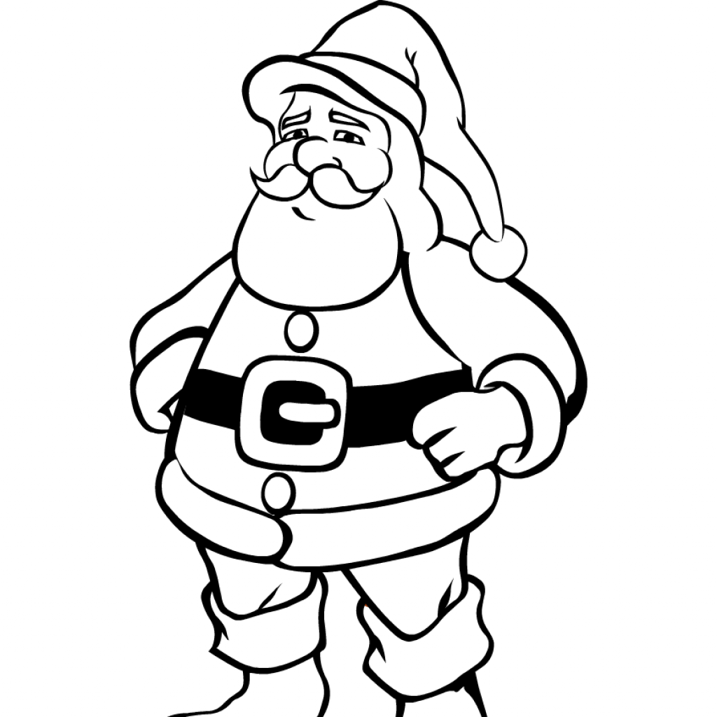 Santa Coloring Pics With Christmas Pages Claus