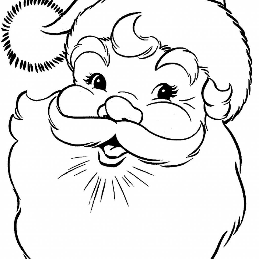 Santa Coloring Pictures Free With Color Page Pages Chronicles Network 950