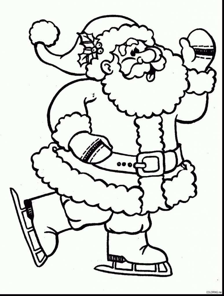 Santa Coloring Pictures Online With Claus Pages Fresh Santaing Page Concept Christmas