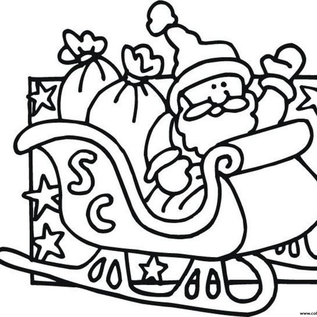 Santa Coloring Pictures Online With Pages Of Claus2174 Printable