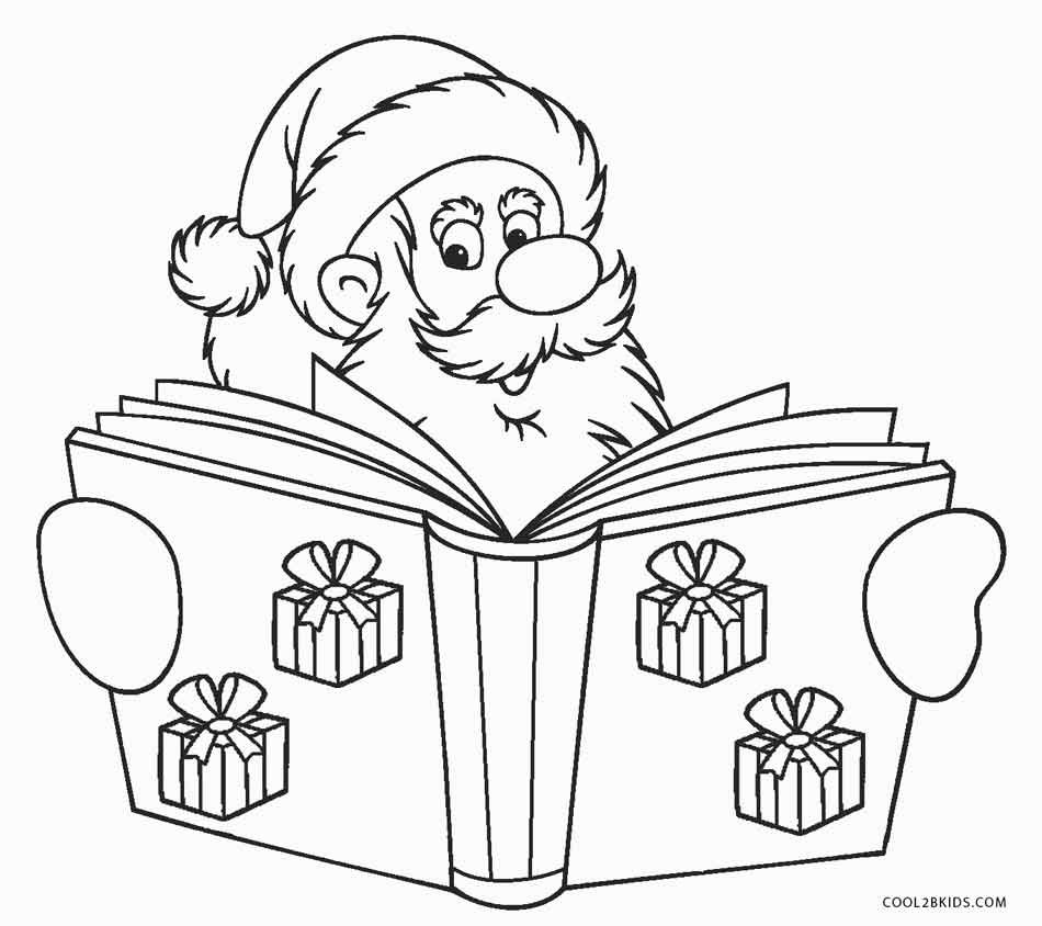 Santa Coloring Sheet With Free Printable Pages For Kids Cool2bKids