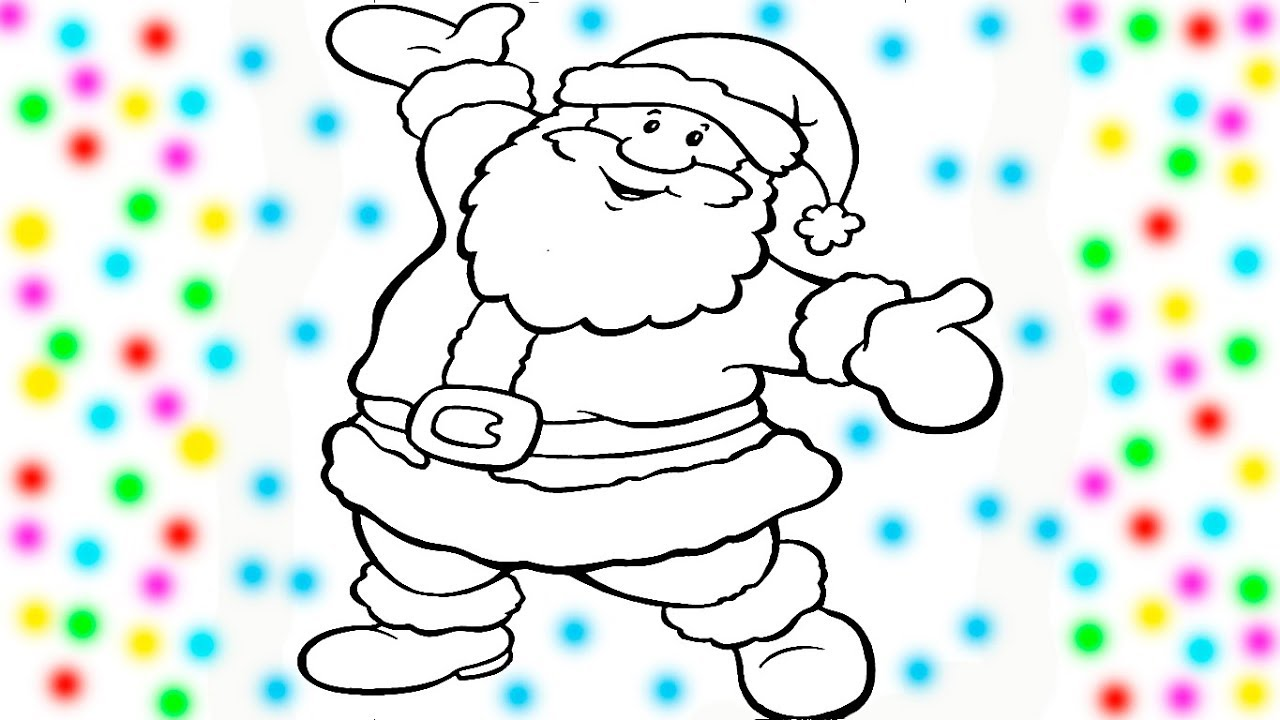 Santa Coloring Videos With Claus Christmas Book Pages For Kids