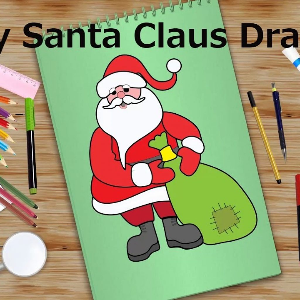 Santa Coloring Videos With Easy Claus Drawing Christmas Special Kids Learning