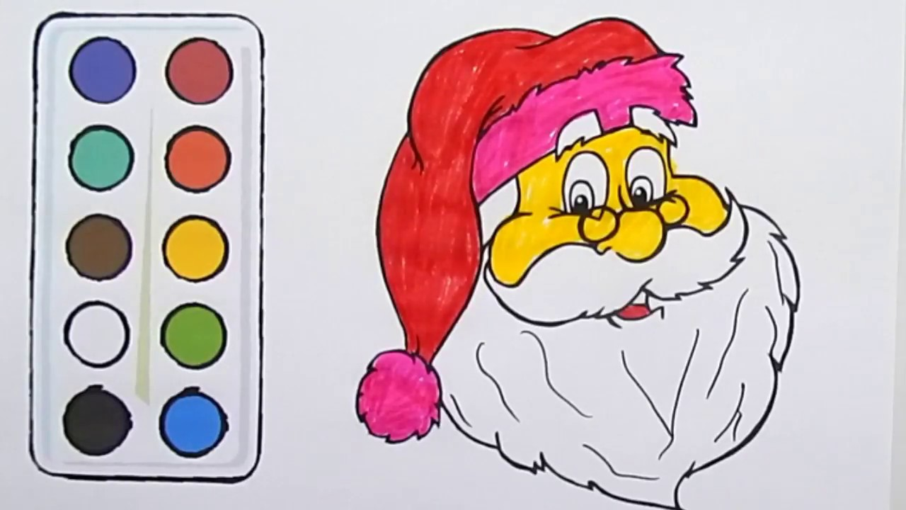 Santa Coloring Videos With How To Draw Colouring SANTA CLAUS Page Book For