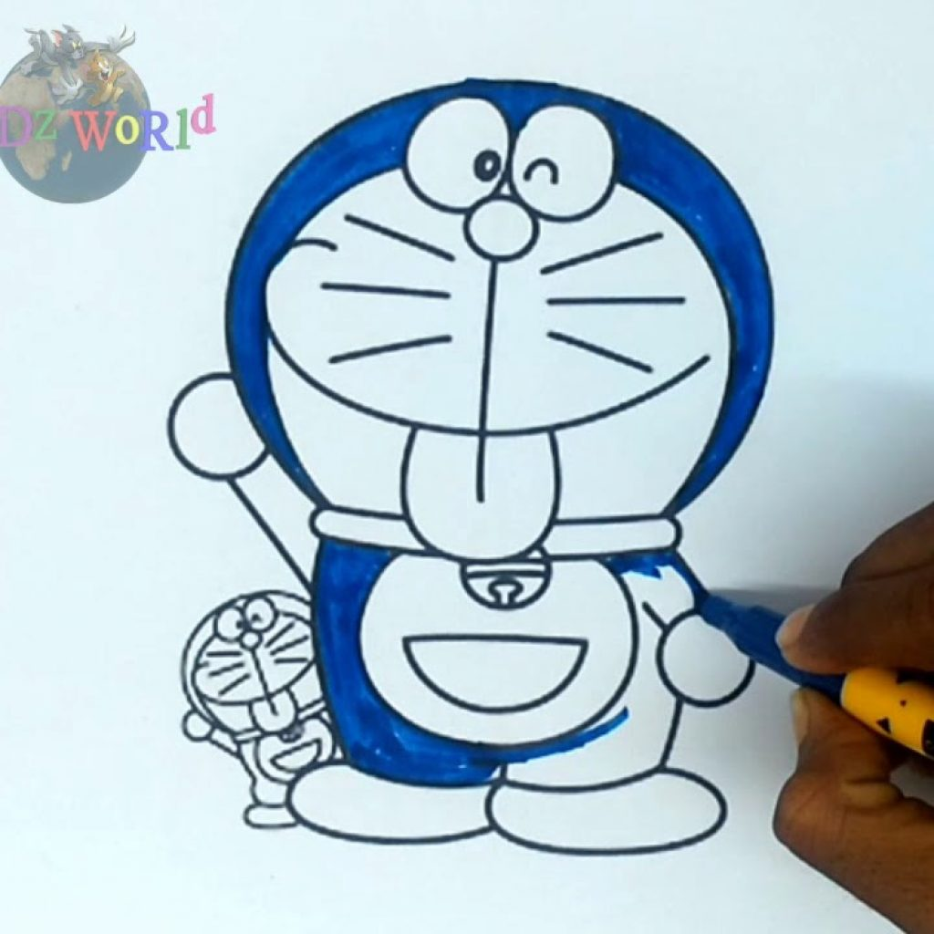 Santa Coloring Videos With How To Draw Learn Colours DORAEMON SANTA CLAUS Colouring Book