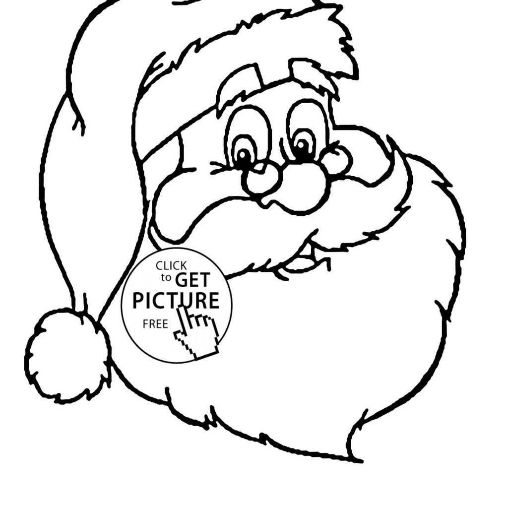 Santa Coloring With Claus Printable Pages My Localdea