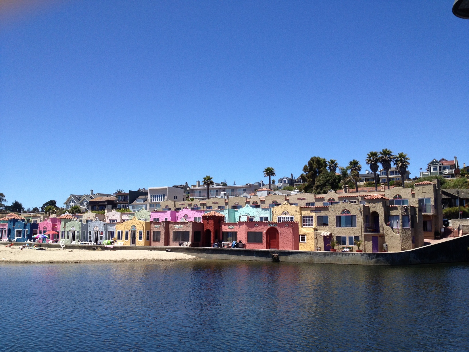 Santa Cruz Colored Houses With Beach Boardwalk Tylerrite S Blog