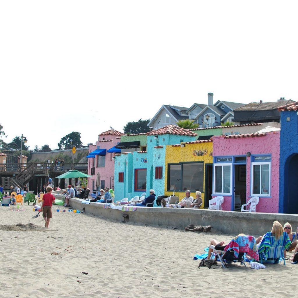 Santa Cruz Colored Houses With Capitola Beach Colorful The Best Beaches In World