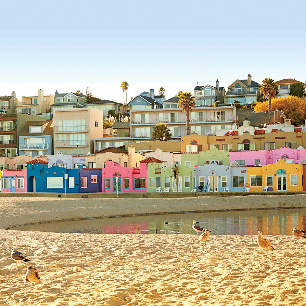Santa Cruz Colored Houses With Dream Town Capitola California Coastal Living