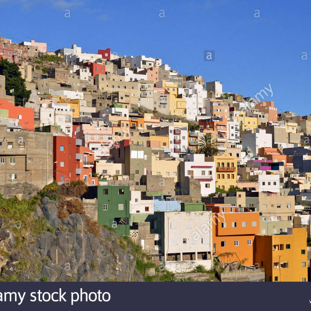 Santa Cruz Colored Houses With Traditional Colorful Stock Photos
