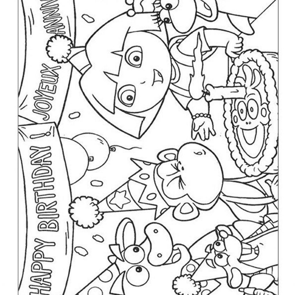 Santa Cruz Coloring Pages With Dora The Explorer To Print