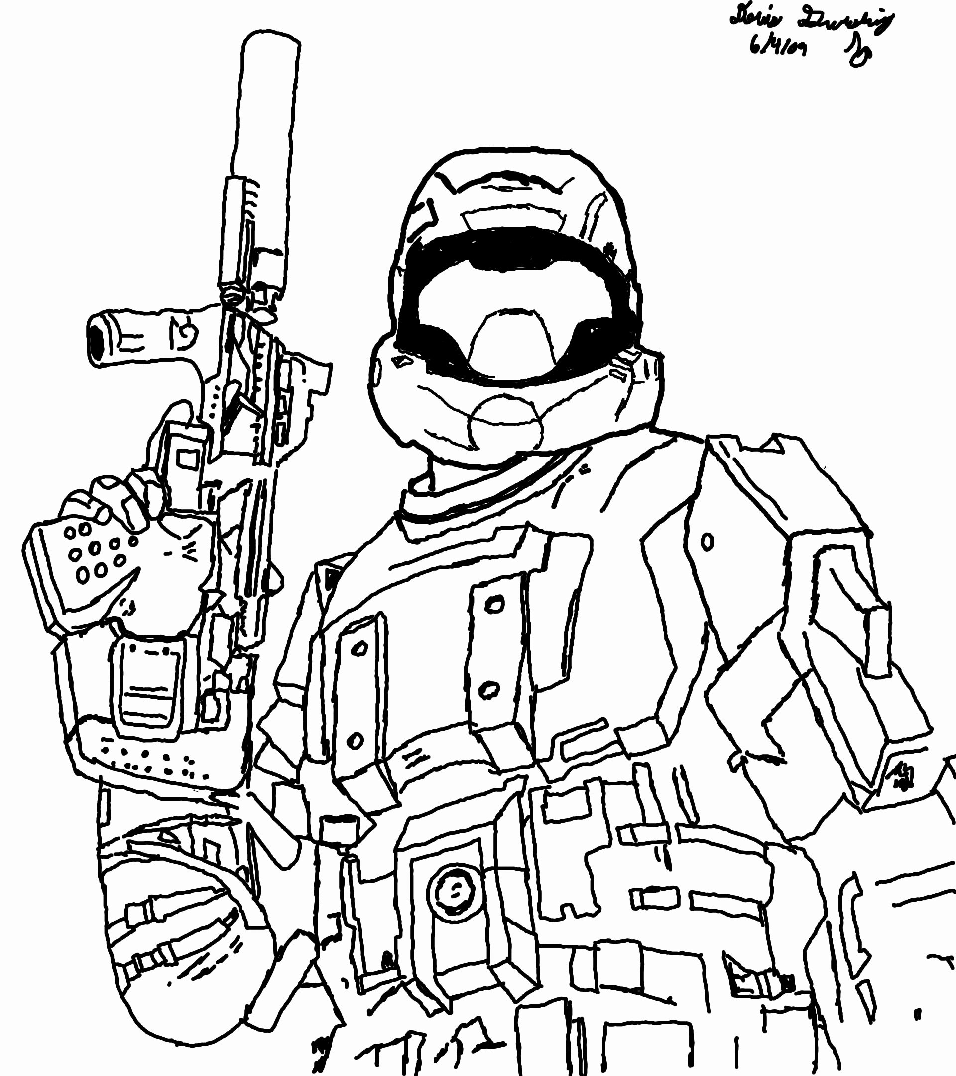 Santa Cruz Coloring Pages With Halo Reach