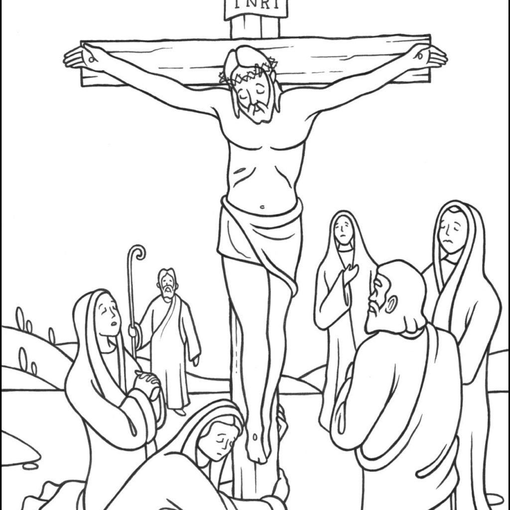 Santa Cruz Coloring Pages With Stations Of The Cross 12 Jesus Dies On