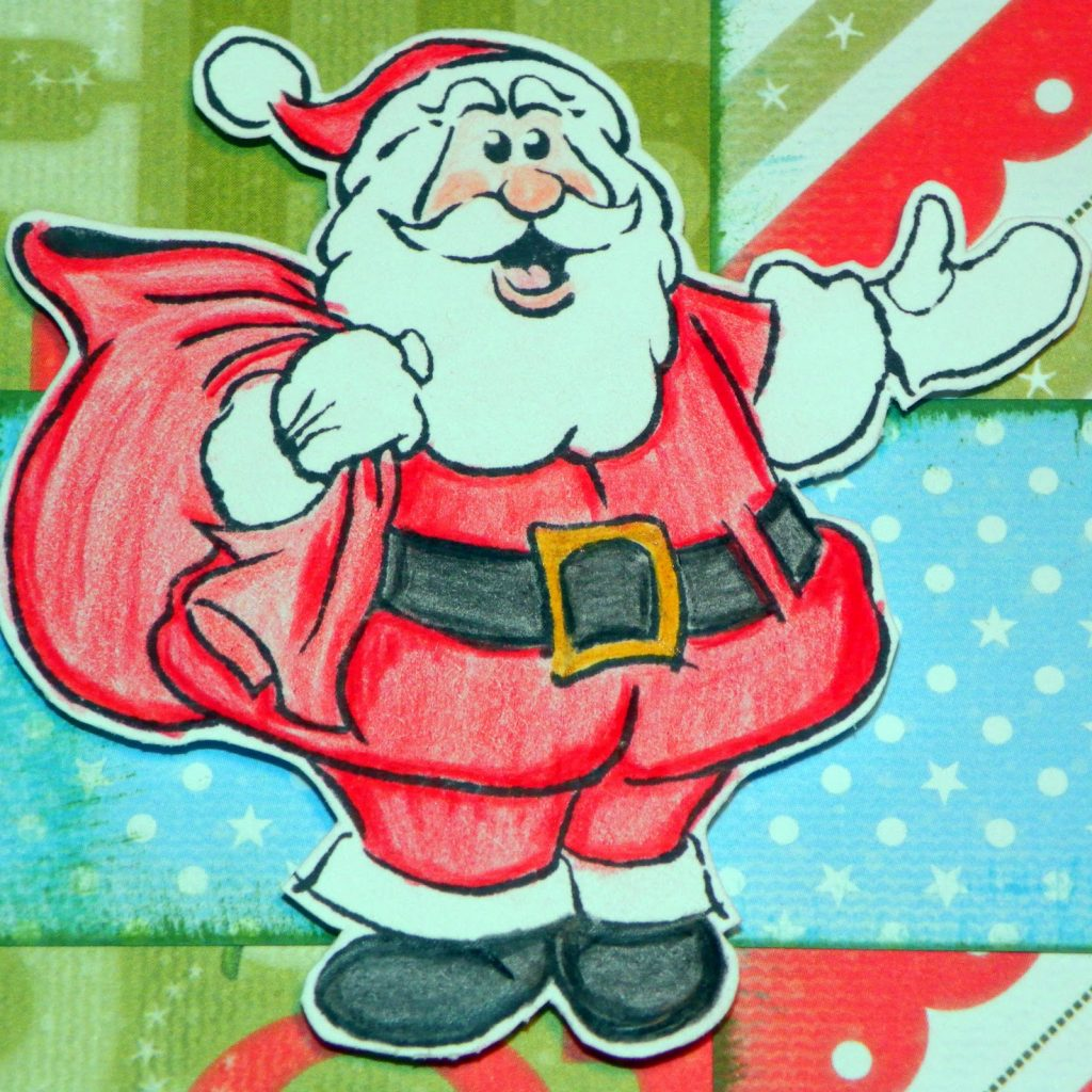 Santa Drawing Colored With Fabulously Creative HERE COMES SANTA CLAUS