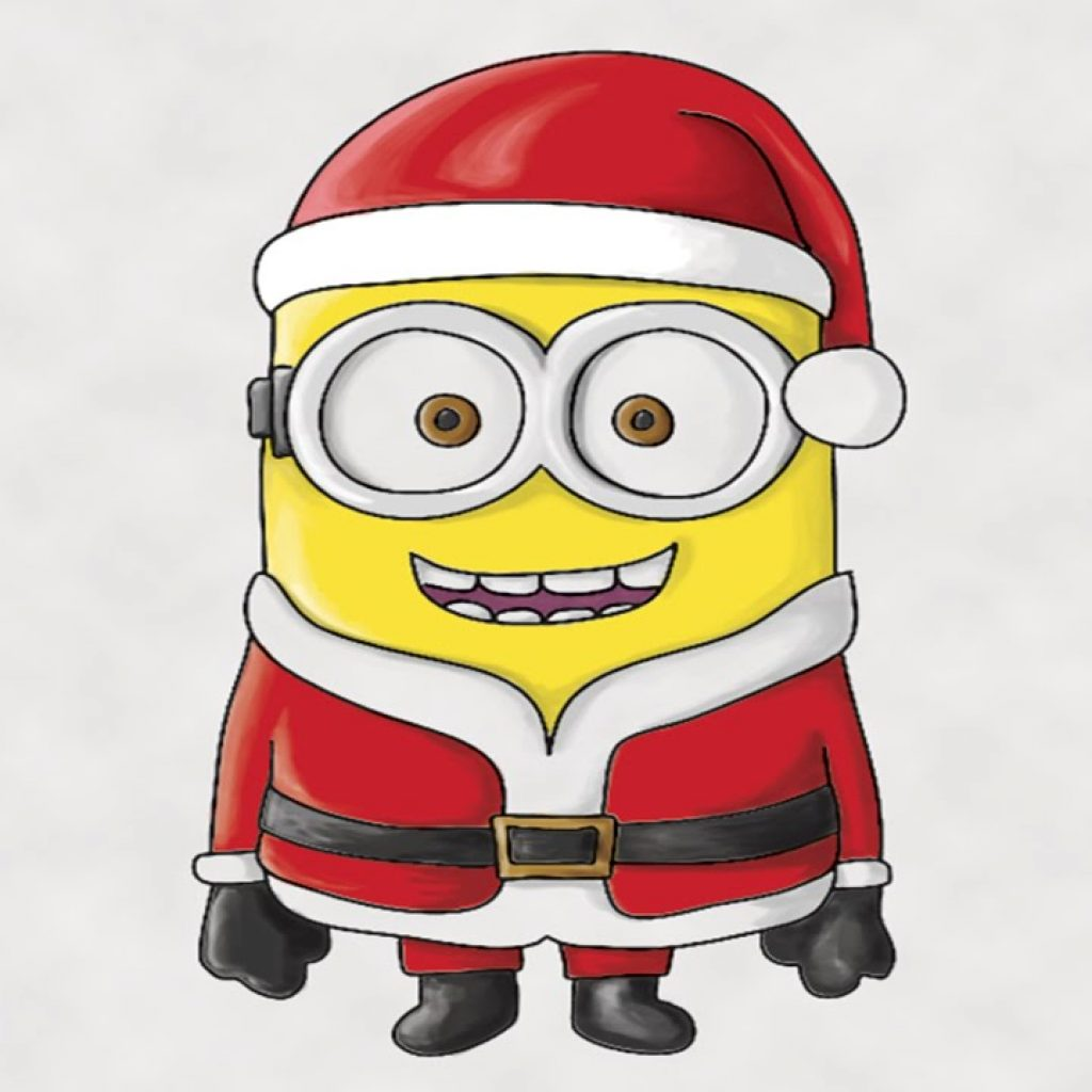 Santa Drawing Colored With How To Draw A Minion Claus In Photoshop YouTube