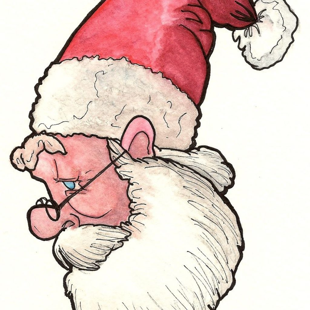 Santa Drawing Colored With Kris Kringle Years Later Most Call Him Claus By Now This