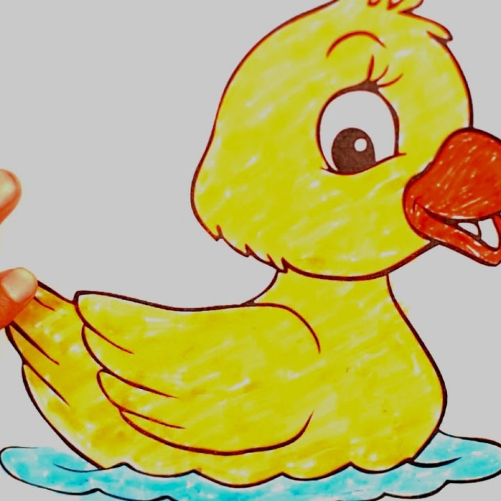 Santa Duck Coloring Page With Cute Pages Book For Kids Preschool