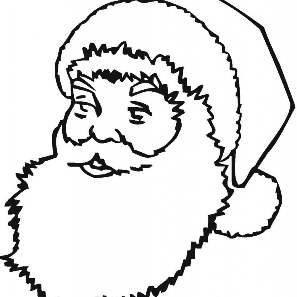 Santa Face Coloring Page Template With Best Photos Of Printable Claus