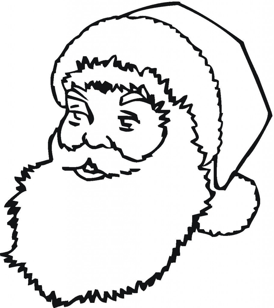 Santa Face Coloring Printable With Best Photos Of Claus