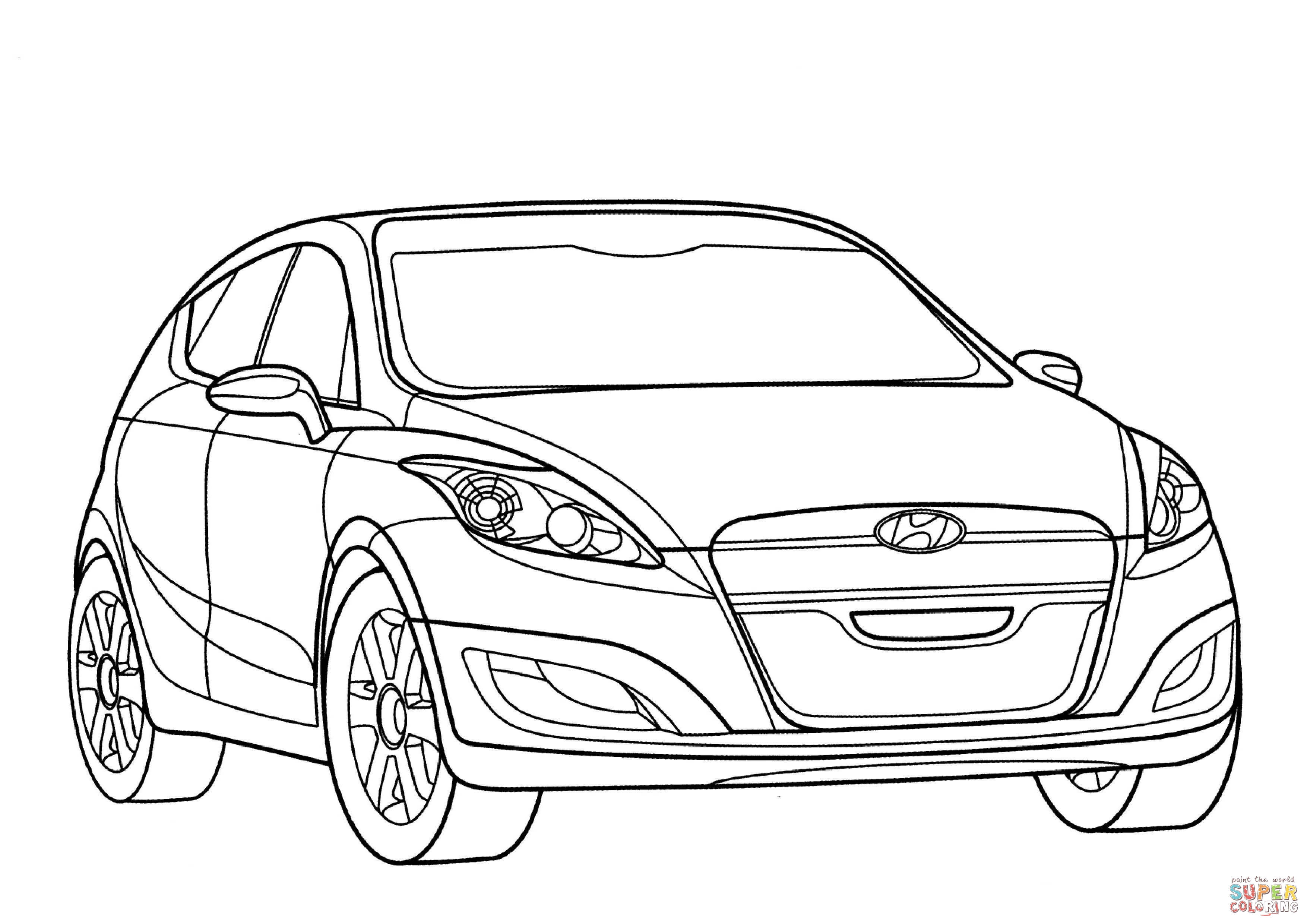 Santa Fe Coloring Pages With Hyundai Arnejs Page Free Printable