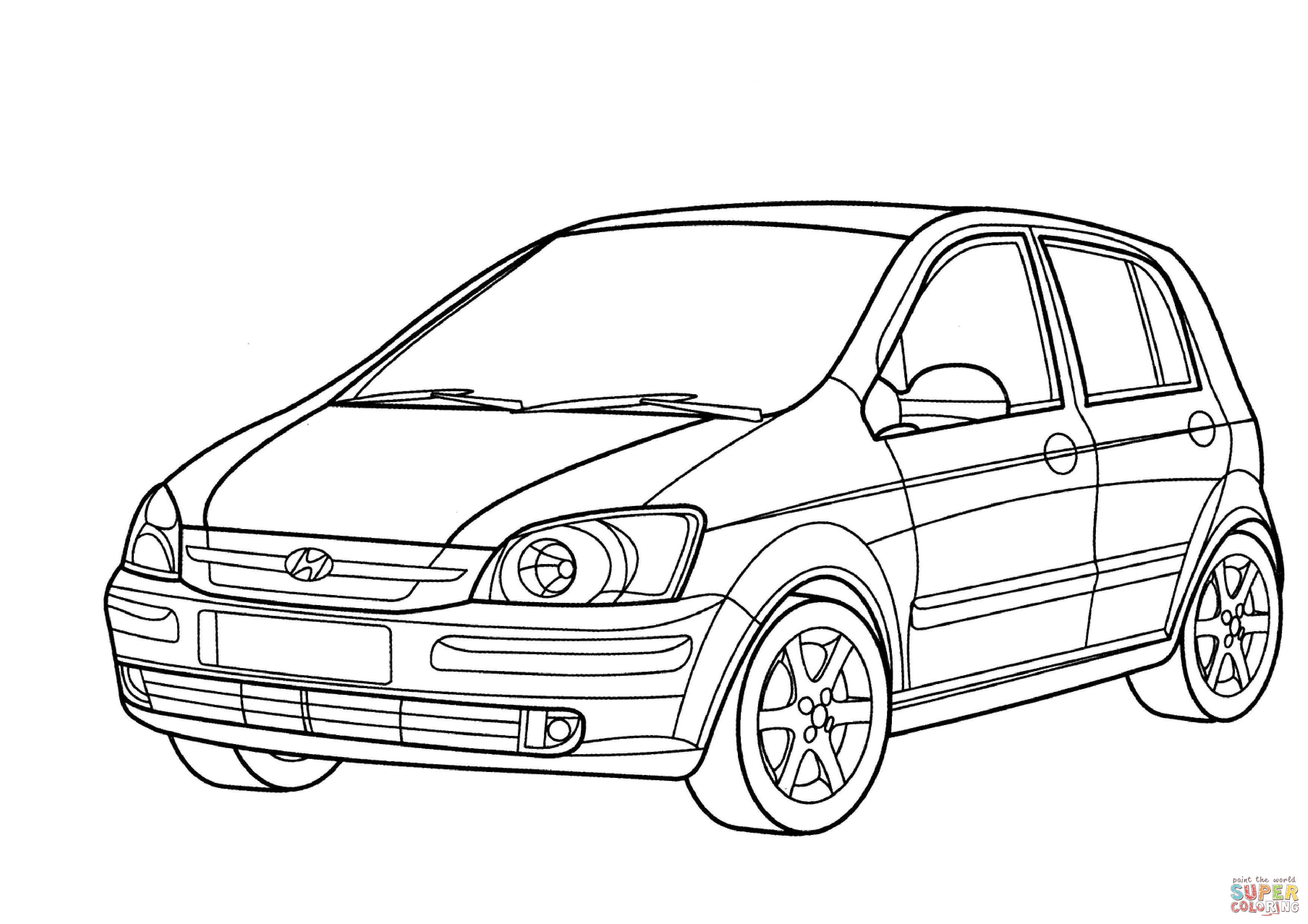 Santa Fe Coloring Pages With Hyundai Getz Page Free Printable