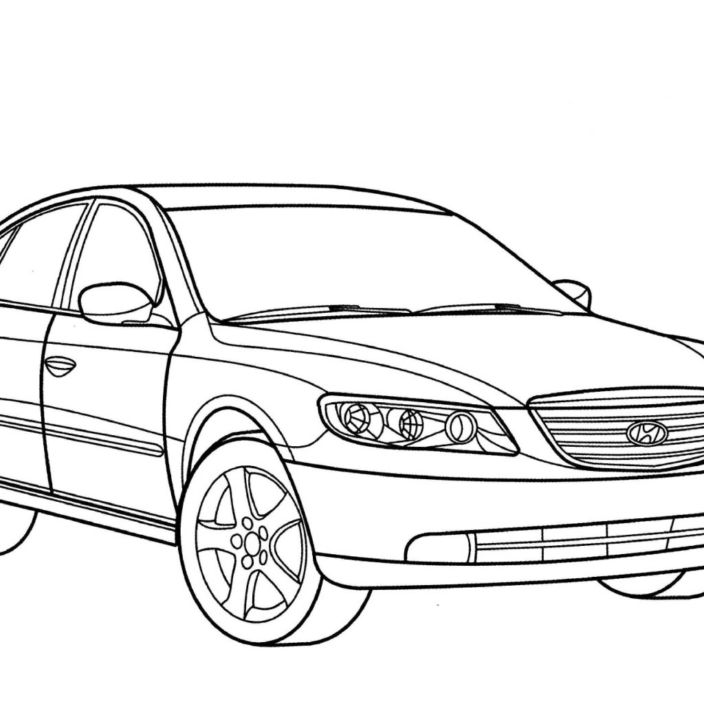 Santa Fe Coloring Pages With Hyundai Grandeur Page Free Printable