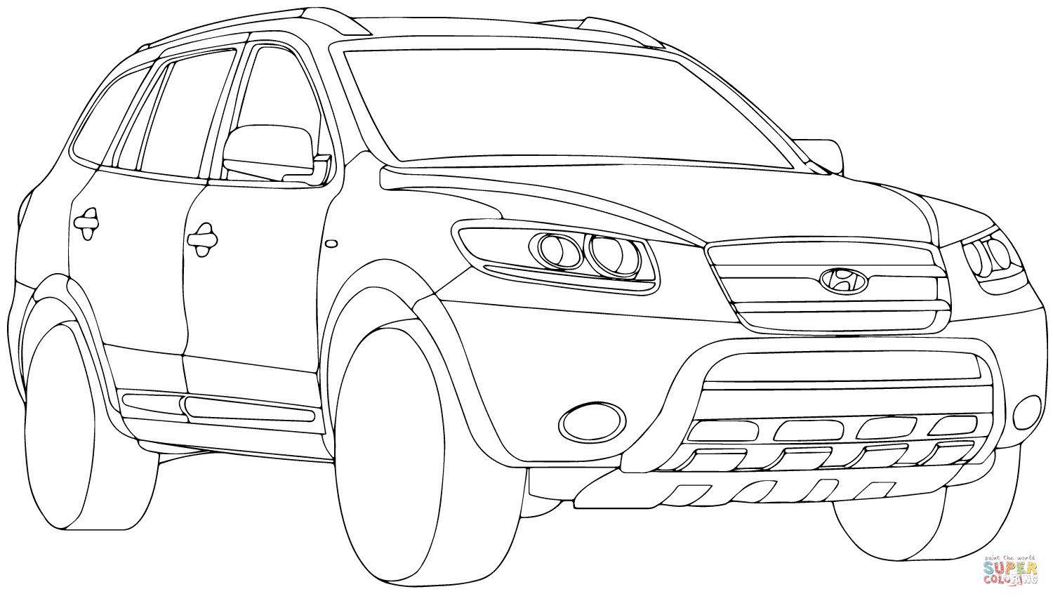 Santa Fe Coloring Pages With Hyundai Page Free Printable