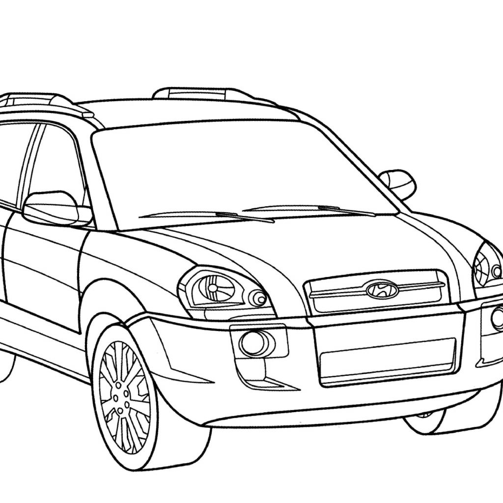 Santa Fe Coloring Pages With Hyundai Tucson Page Free Printable