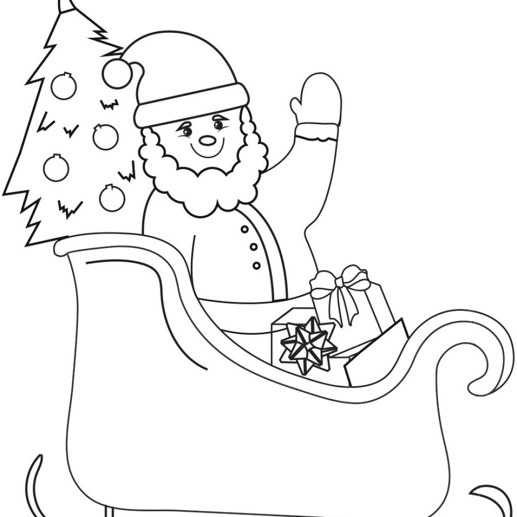 Santa Fe Coloring Pages With Perspective Pictures Of To Color On Sleigh Page Free
