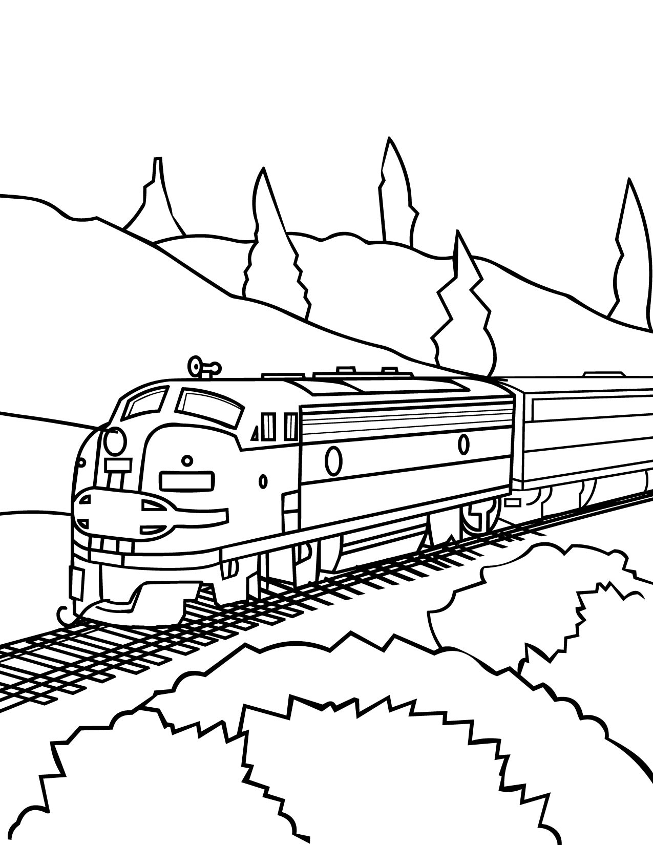 Santa Fe Train Coloring Pages With 28 Collection Of Csx High Quality Free