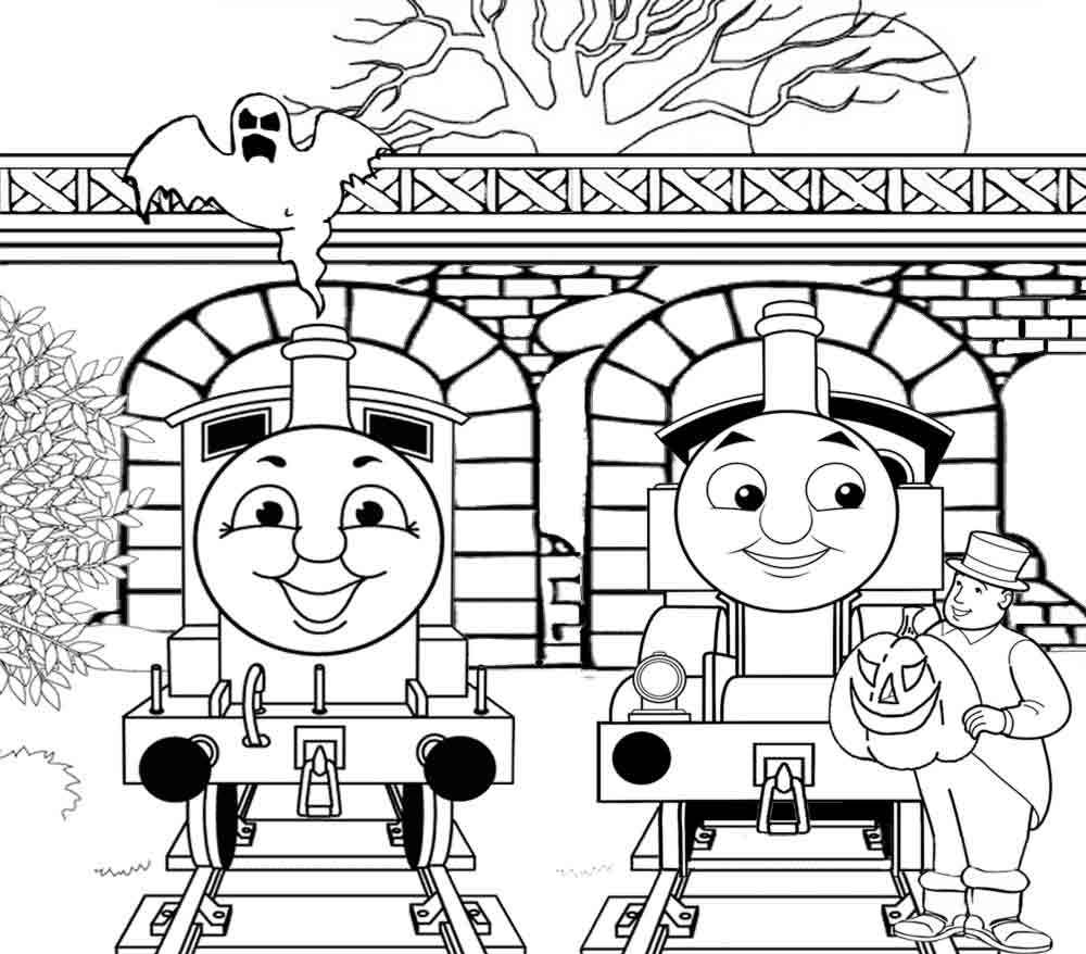 Santa Fe Train Coloring Pages With Free Thomas