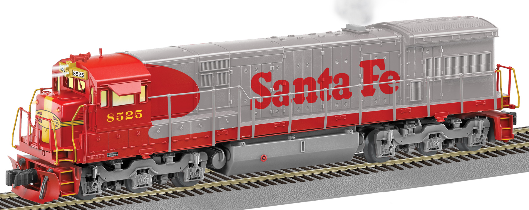 Santa Fe Train Coloring Pages With LEGACY Scale U33C Diesel 8525